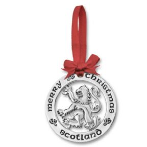 Silver Plated Christmas Decoration Scottish Lion 0943